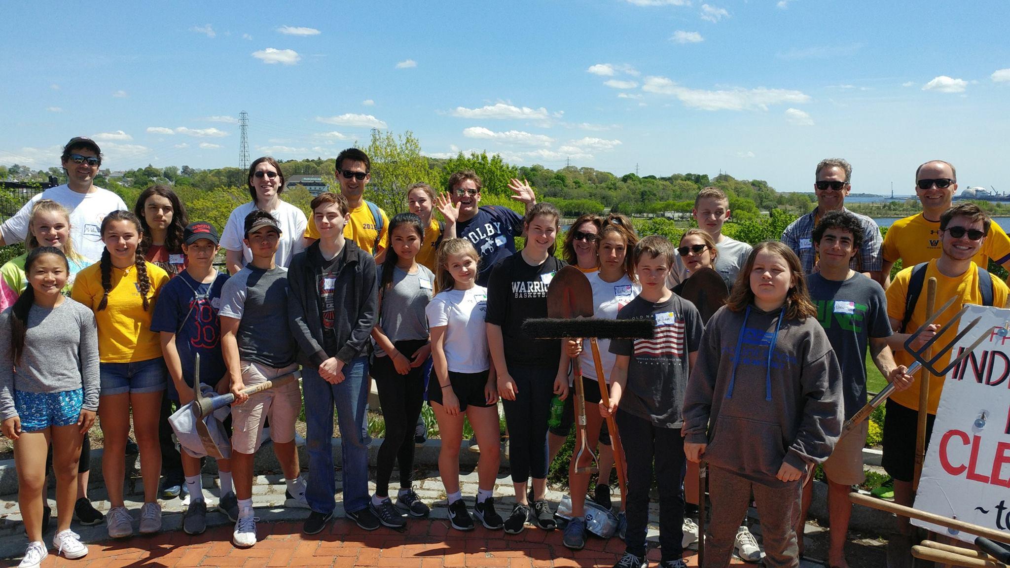 Wheeler School Planting and Weeding, May 11
